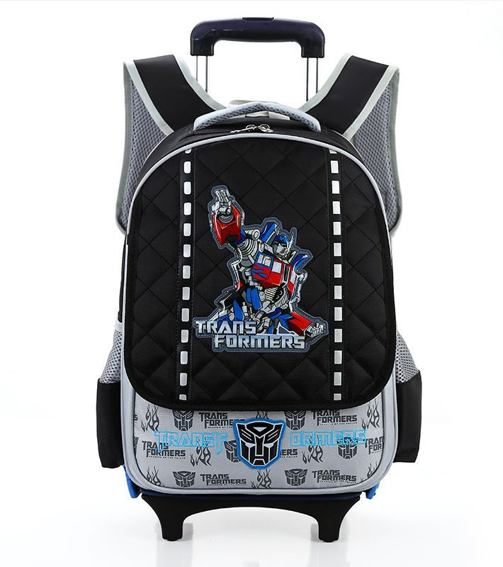Transformers boy Trolley backpacks school Hello kid trolley suitcase US style detachable backpack waterproof - GREAT KHAN store