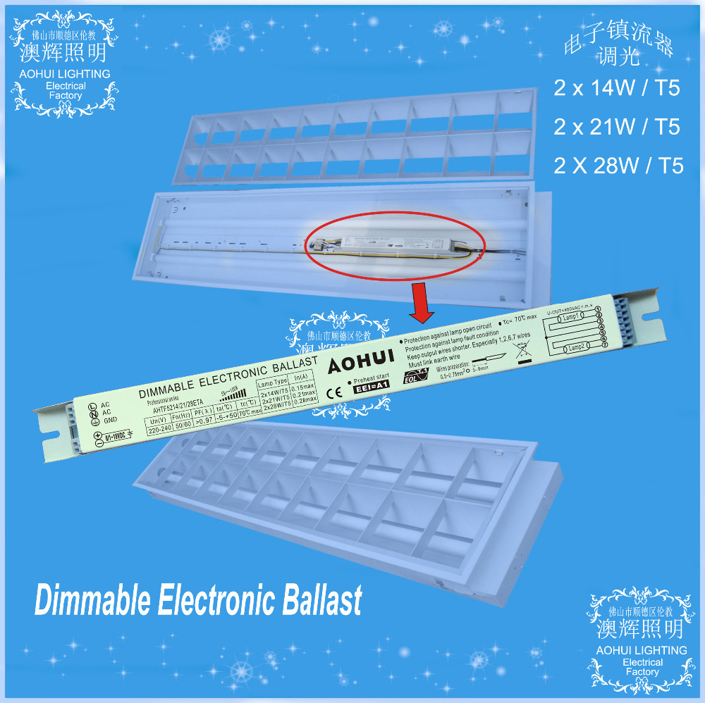 Dimmable Electronic Ballast 2x14/21/28W T5(220V-240V)(China (Mainland))