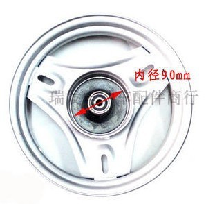 Small sand scooter electric car front rims 14 * 3.2 (300-10) 10 inch drum brake hub hoops high quality wholesale,Free shipping(China (Mainland))