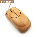 Wired Mouse Bamboo Optical Mice USB Interface Comptuer Ergonomic With FCC CE Top Quality Para Notebook