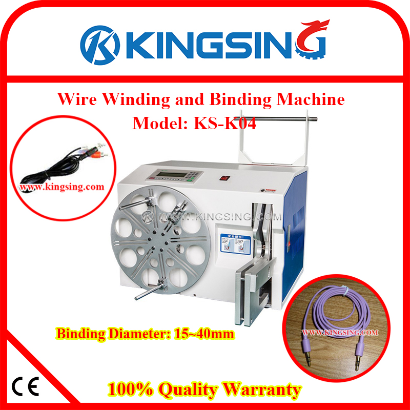 Cable Binding Tying Machine/ Wire Coil Twisting Binding Machine & Metal Core Cable Tie KS-K04 + Free Shipping by DHL air express(China (Mainland))