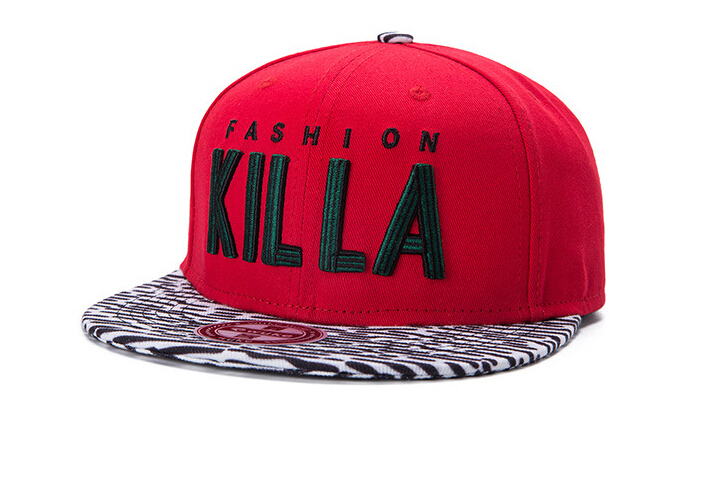 2015 Fashion'KILLA' Letter Baseball Cap Men Cotton Red Patchwork Snapback Caps Flat-brimmed Hiphop Unisex Hats Adjustable C047 - New Cover Co.,Ltd. store