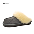 High Quality Home Slippers Women and Men 2016 Winter Fur Warm Indoor Slippers Men Shoes Brand