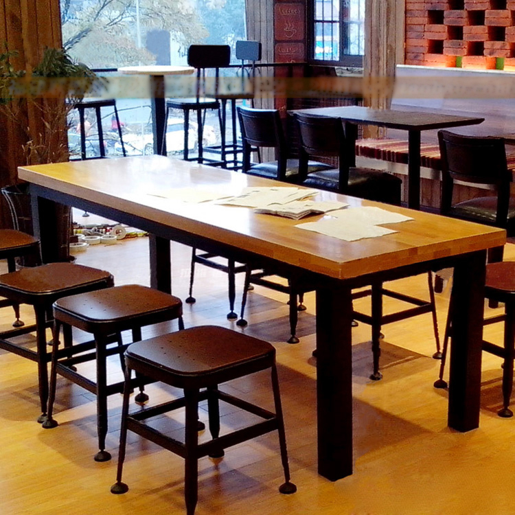 table long table restaurant cafe rectangular dining table and chairs