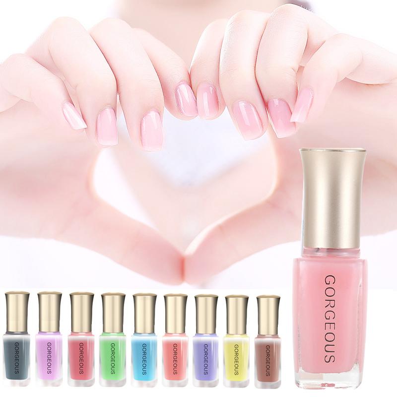 Fashion Spring Summer DIY Nail Art Pen Long Lasting Nudes Color Shining Semi Transparent Jelly Nail Polish Gel(China (Mainland))
