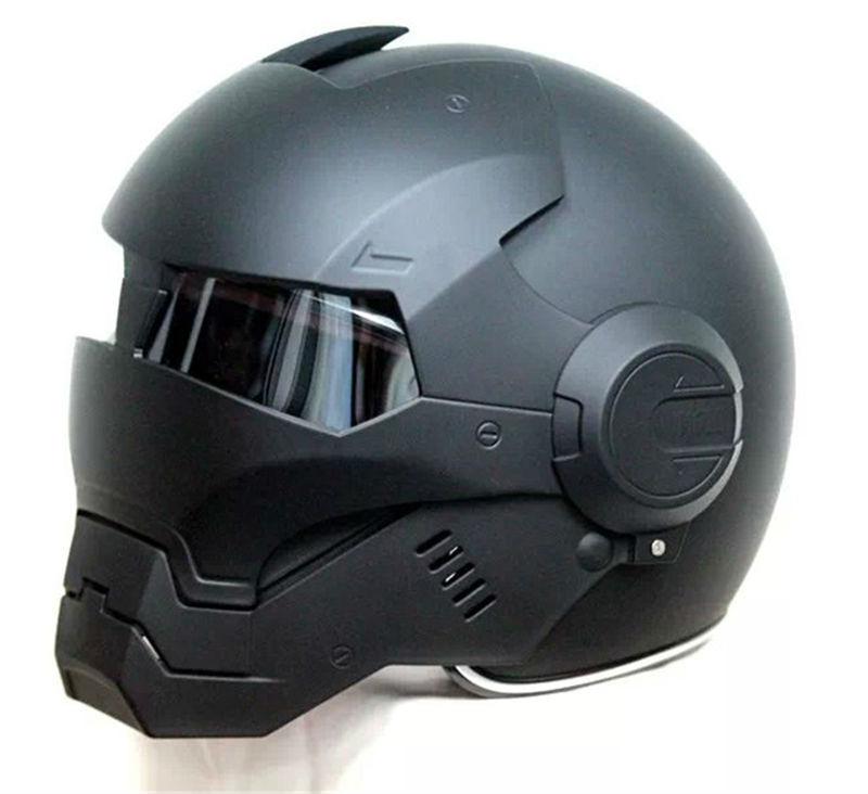 2016 Top hot Black MASEI IRONMAN Iron Man helmet motorcycle helmet half helmet open face helmet casque motocross 610 SIZE:M L XL(China (Mainland))