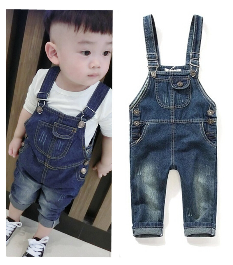 Denim Overalls For Girls Boy 2015 Loose Fsahion New Kids Infant Overalls Bib Jeans Boy Children's Jeans Baby Clothes Pants(China (Mainland))
