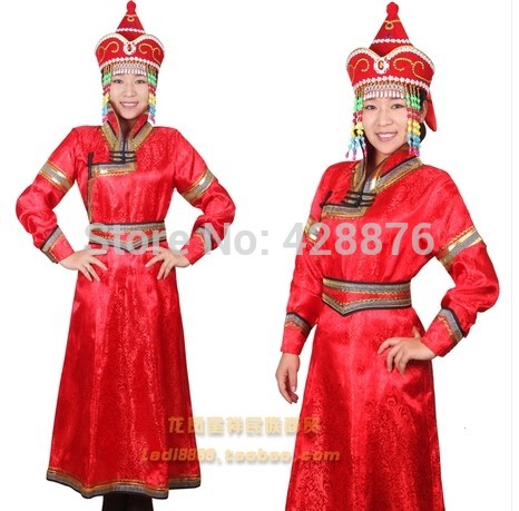 Robed mongolia womens costume dance clothes wedding dress welcome mongolian cheongsamОдежда и ак�е��уары<br><br><br>Aliexpress