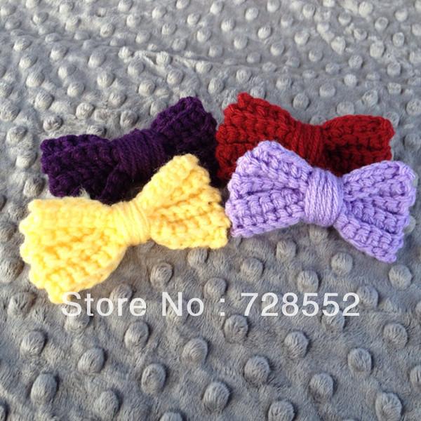 Free shipping cute photography props handmade crochet newborn baby bow tie(China (Mainland))