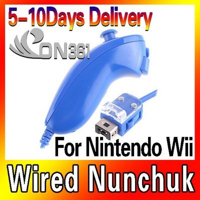 Free shipping - Nunchuck Controller Left Lever Handle for Nintendo Wii Game red/blue/darkblue