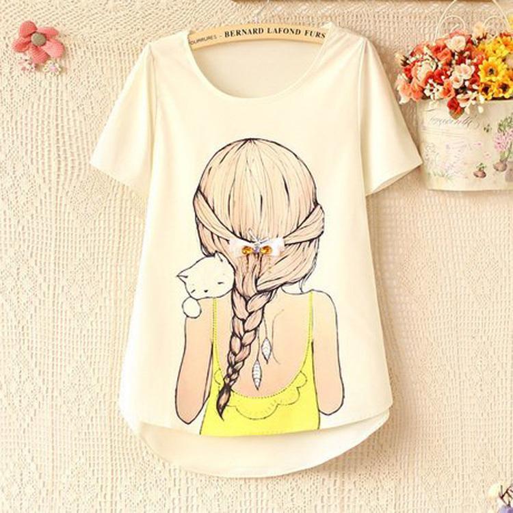 summer dress 2015 women's Shirts sparkling diamond beauty bow short-sleeve o neck women blouses plus size clothing(China (Mainland))