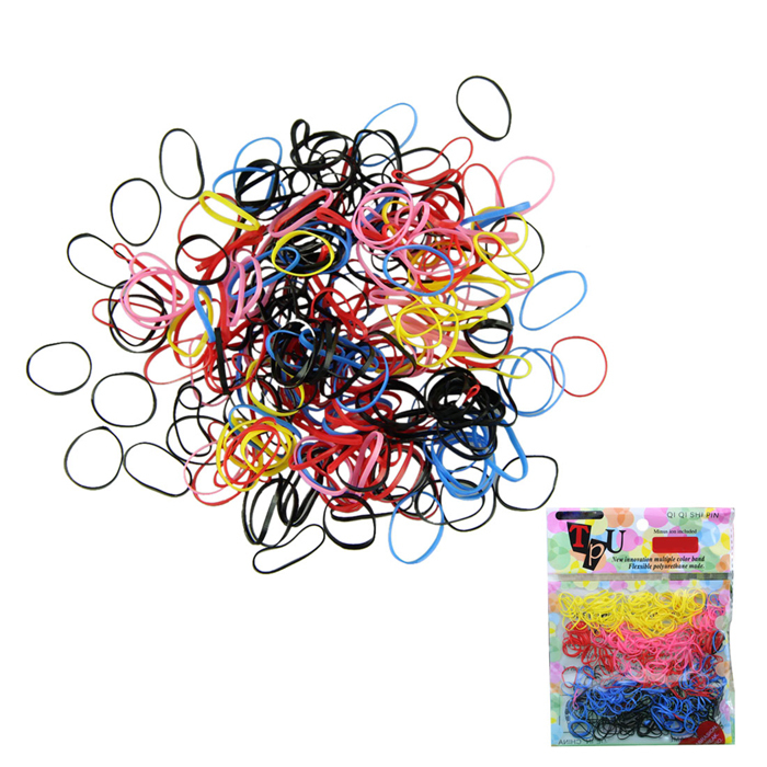 Delicate 500pcs/lot Multi-color Women Girl DIY Hair Styling Rubber Hairband Rope Ponytail Holder Elastic Hair Band Ties Braids(China (Mainland))