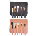 8pcs set Makeup Cosmetic Brushes Set Wooden Handle with Zip PU Bag Makup Brushes Kit
