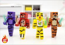 4 шт./компл. Minecraft Пять Ночей В фредди 4 FNAF Foxy Чика Бонни Фредди Фигурки Малыш Игрушки(China (Mainland))