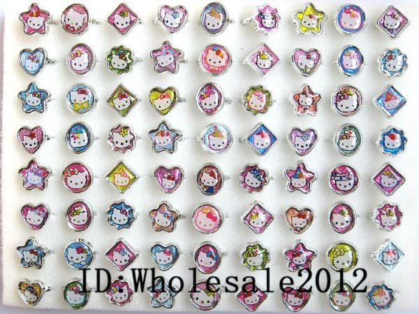 720pcs Cute hello kitty new popular Fancy Ring in Box gifts + free shipping