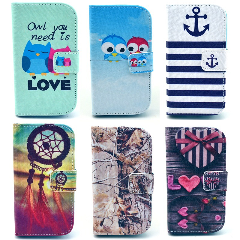 Luxury Leather Wallet Flip Cover Case For Samsung Galaxy S Duos S7562 S7582 GT-S7562 Trend Plus S7580 S7560 GT-7580 7562 YB132(China (Mainland))