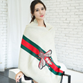 High quality luxury desigual new winter scarves women cute bee print cashmere female blanket shawls and