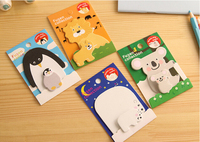 4X Kawaii Cute Cartoon Planner Sticker School Supplies Stationery Sticky Notes Notepad Post it Papelaria Filofax Papel