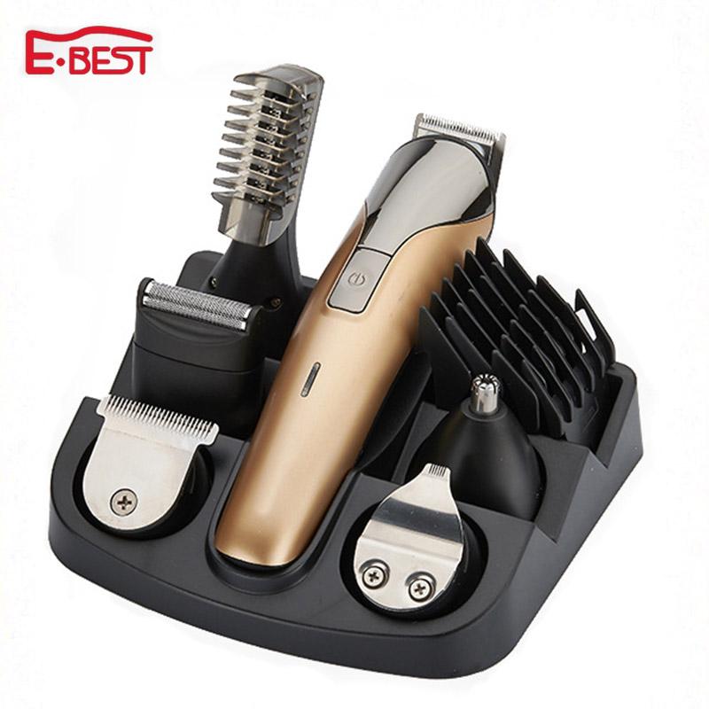 6 In1 Electric Titanium Hair cutting machine Rechargeable hair clipper Hair trimmer beard trimmer hair cut machine for trimming(China (Mainland))
