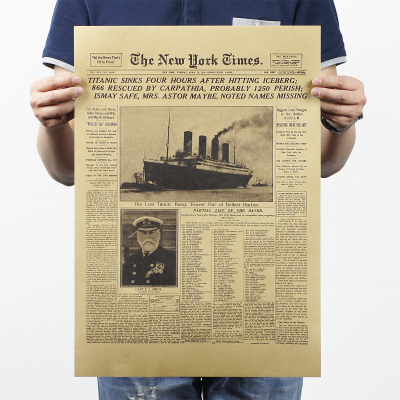 [168 FULL HOUSE ] The New York Times Vintage Poster Wall Paper Bar Art Home Decor Wall Pictures For Living Room 51x35CM A-176(China (Mainland))