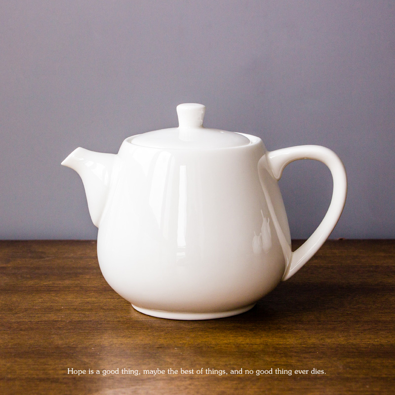 3 Size 450ml/700ml/900ml White Ceramic Coffee Pot Creative Ceramic Coffee Pot Bone China The Restaurant Home Daily Tea Pot(China (Mainland))