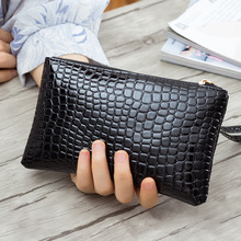Buy New Fashion Crocodile Pattern Women Long Wallet Alligator PU Leather Female Clutch Purse Vintage Money Makeup Bag Lady Wrist Bag for $3.15 in AliExpress store