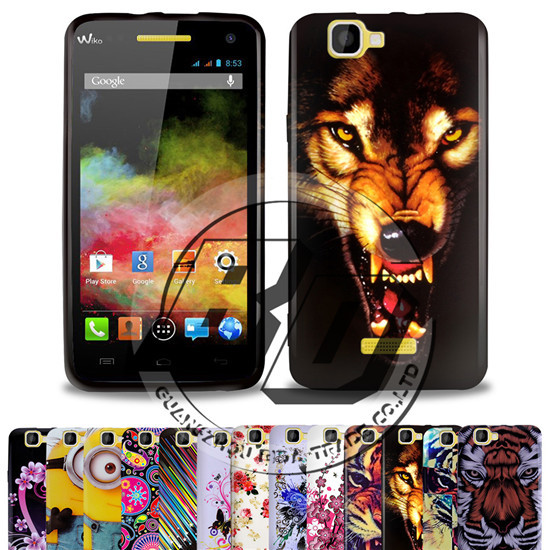 On Stock ! For Explay Fresh Glossy Skin Back Fahsion Design Printed TPU Gel Silicone Case Cover Back For Explay Fresh +Earphone(China (Mainland))