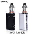 Vape Box Mod Kit Electronic Cigarette E cigarette Battery Built in Evaporator SMOK R40 Good Taste
