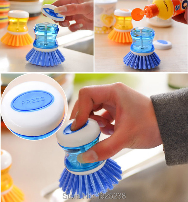 Cleaning Brush Brushes Kitchen Easy Dish Scrubbing Washing Up Liquid Detergent(China (Mainland))
