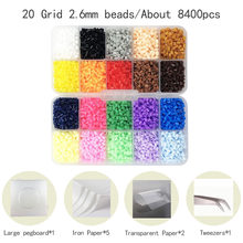 Mini 2.6mm Hama Beads include tool Pegboard PUPUKOU beads Kids Education Diy Fuse Bead Jigsaw Puzzle 3D For Children abalorios(China)