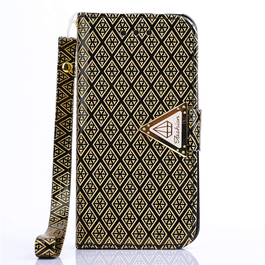 iPhone 4 4s 5c Case Luxury Golden Diamond Forever Smart Cover PU Leather Skin Metal Buckle Soft TPU Lovely Gift