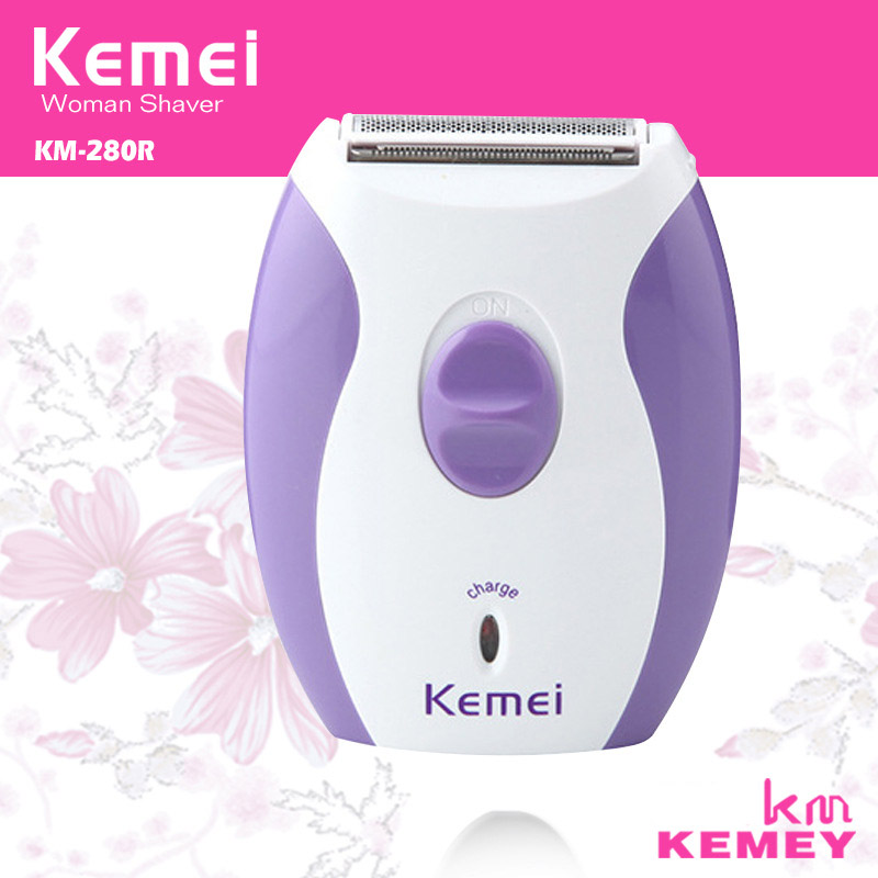 Brand New KeMei KM-280R Women Rechargeable Epilator Little And Dainty Feminine Electric Shaver Hair Removal Shaving Products(China (Mainland))