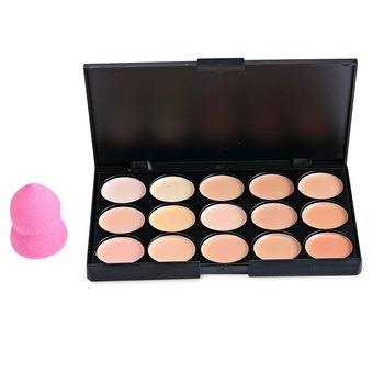15 Color Matte Cream Camouflage Concealer Palette Makeup Correct and Powder Puff Sets Professional Facial Cosmetic 1565465