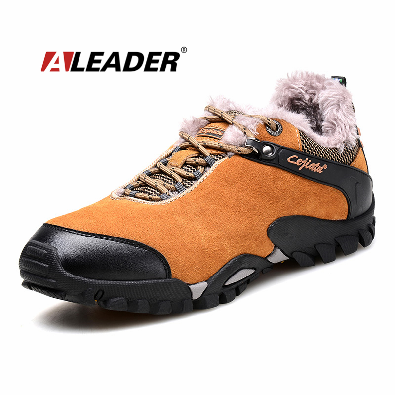 men shoes casual boots 2016 fashion suede leather mens warm shoes