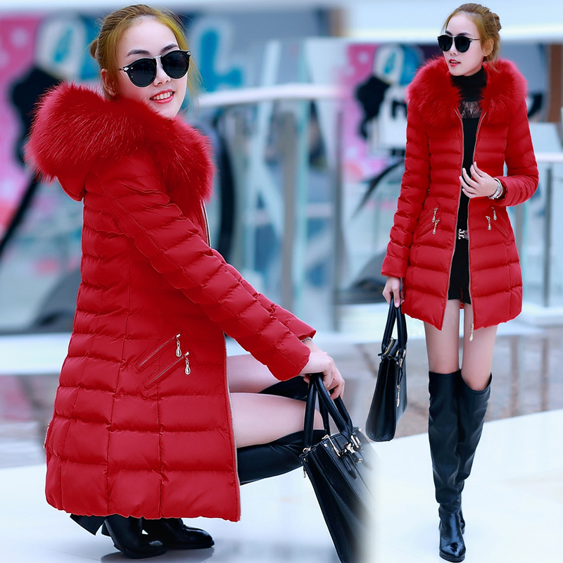 Free shipping brand down jackets women clothes fur coat brand plus size 4xl 3XL XXL 2015 winter new luxury green red collar downОдежда и ак�е��уары<br><br><br>Aliexpress