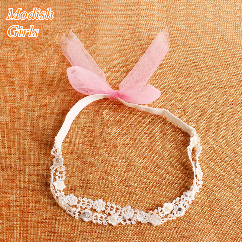 20pcs/lot Korean Style Baby Lace Headbands Princess Toddlers Hairbands Comfortable Cute Hairbands For Baby Girls Free Shipping