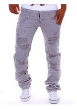 Designer male jeans men high quality jeans male famous brand men dark jeans ripped jeans for men italian motorcycle biker robin(China (Mainland))