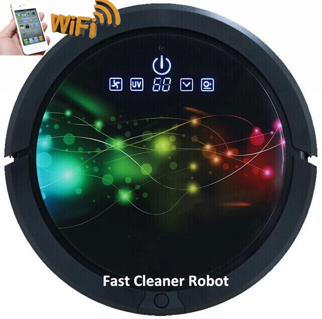 Newest Latest Patent WIFI Smartphone App Control Robot Vacuum Cleaner QQ6 with water tank wet and dry cleaning(China (Mainland))