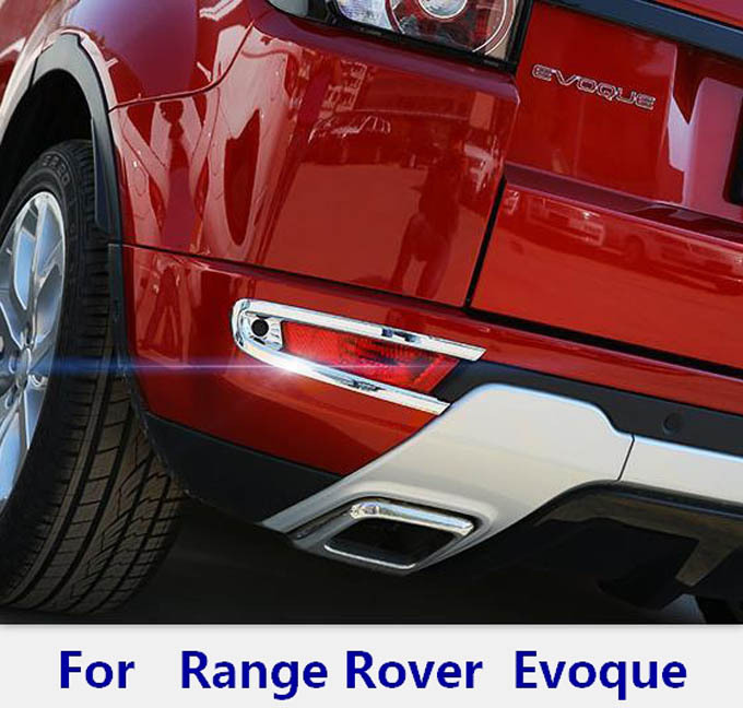 exterior Accessories Chromium Styling for range rover evoque taillight rear bumper fog lights lamp Cover sticker frame trim(China (Mainland))