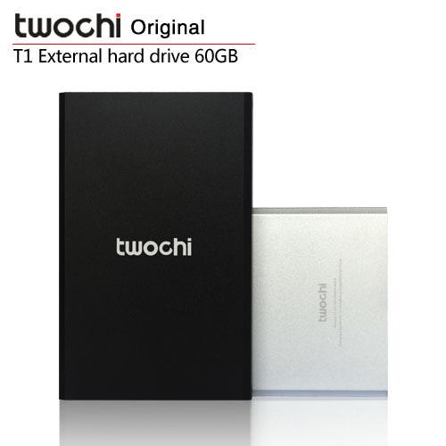 Free shipping TWOCHI T1 Original 2.5'' External Hard Drive 60GB Portable HDD Storage Disk Plug and Play(China (Mainland))