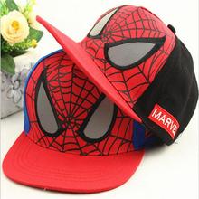New Arrival Spiderman Children  Cartoon Embroidery Cotton Baseball Cap Boys&Girls Snapback Caps Hip Hop Hats casquette gorras(China (Mainland))