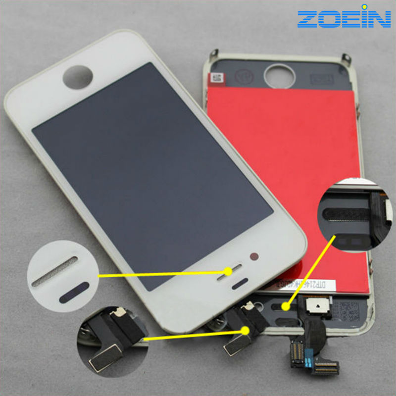 For iphone 4 iphone 4  for iphone 4 lcd дисплей monitor lcd for iphone 4s white