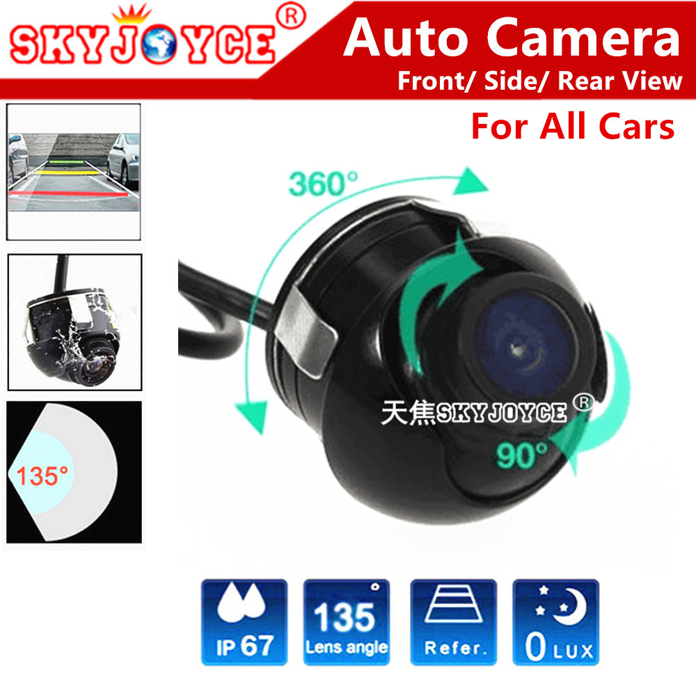 Freeshipping HD CCD camera 360 rear view parking camera/Front view auto camera/Side view camera for all cars Skoda Fiat(China (Mainland))