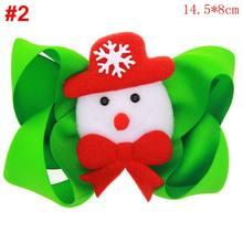 Naturalwell Рождество зеленый шеврон бабочка для смокинга Hairbow широкая лента бант девичьи заколки-пряжки бант ребенок негабаритный бант ребенок ...(China)
