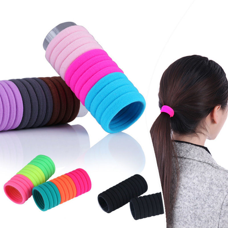 10pcs High Quality Candy Color Elastic Rope Ring Hairband Women Head Hair Band Ponytail Holder Headbands Ornament Accessories(China (Mainland))