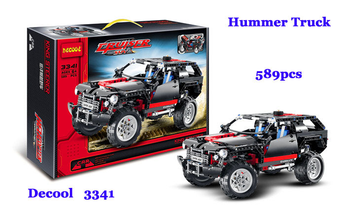 Decool 3341 High Tech Transport Cruiser SUV Truck Racing Car Model 589pcs bricks ABS building block set toys as children gifts(China (Mainland))