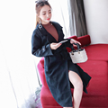 Free shipping Winter women s fashion lace Cardigan Clothing Solid Turndown Collar Coat