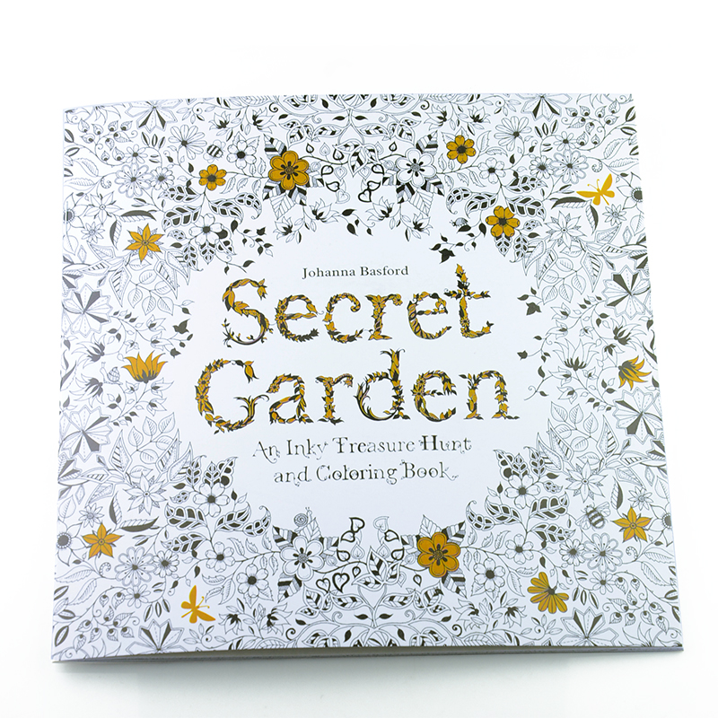Secret Garden Coloring Book Review : 24 Pages Relieve Stress For Children Adult Painting Drawing Book Secret Garden Kill Time ...