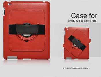 Free Shipping High Quality Hand Held Leather Cases for Apple iPad 2 3 4,Fashion Genuine Leather Case for Apple iPad 4 3 2