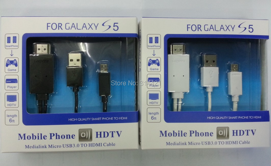 50pcs/lot free shipping DHL Best price Micro USB MHL HDMI HDTV Cable Adapter For Samsung Galaxy S5 i9600